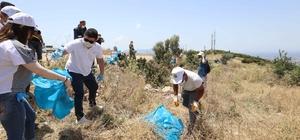 """Belediye başkanı çevre gönüllüleriyle üç kamyon çöp topladı. Başkan Kılıç'tan çevre uyarısı: """"Seyredebilecek İzmir kalmayacak"""""""