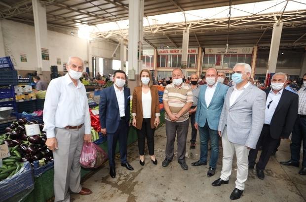 Vali Becel ve Başkan Arı, kapalı pazaryerinde incelemelerde bulundu