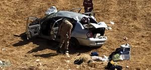 Siirt'te tarlaya uçan otomobil hurdaya döndü: 5 yaralı