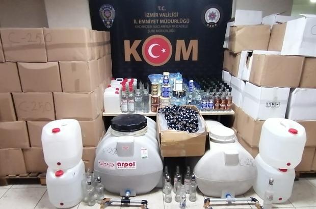 İzmir'de sahte içki operasyonunda yakalanan 4 kişi tutuklandı
