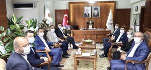 AK Parti heyetinden Vali Becel'e hayırlı olsun ziyareti