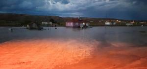 Yunak'ta şiddetli yağmur sele neden oldu
