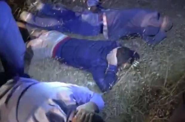 2 bin yıllık toplu aile mezarını tahrip eden şüpheliler suçüstü yakalandı