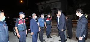 Vali Ali Çelik, karantina bölgesinde incelemelerde bulundu