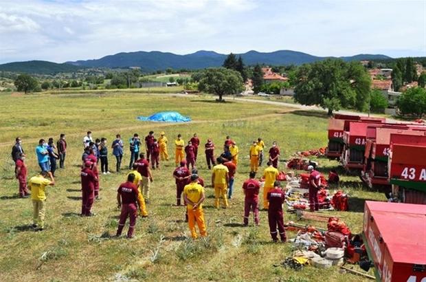 Kütahya'da Orman Yangınları ile Mücadele İş Başı Eğitimleri