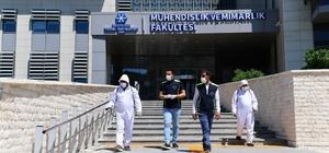 Yakutiye Belediyesi YKS sınavı öncesi okulları dezenfekte etti