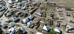 51 evin hasar gördüğü mahalle havadan görüntülendi