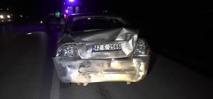 Tır otomobile arkadan çarptı: 3 yaralı