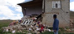 Saray ilçesindeki evler büyük hasar gördü