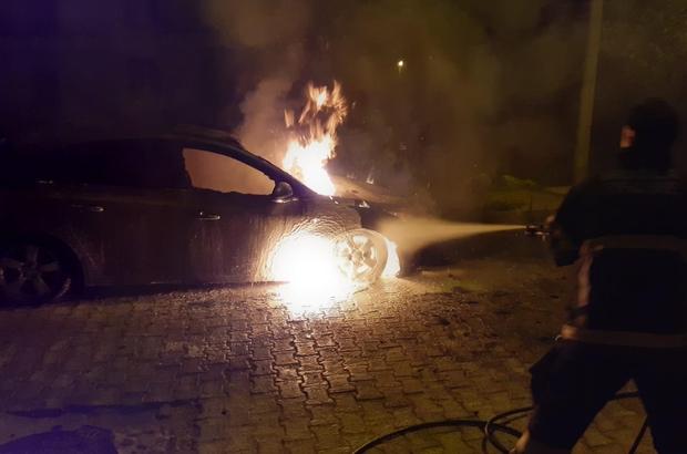 Milas'ta otomobil küle döndü
