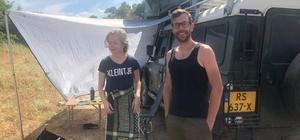 Hollandalı çift Siirt'te kamp yaptı