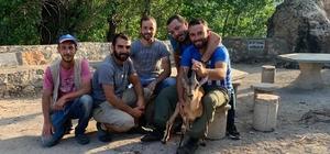 Hasta dağ keçisini 5 kilometre sırtlarında taşıdılar