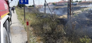 Kulu'da ot yangını büyümeden söndürüldü