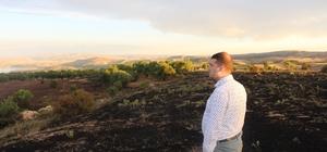 Elazığ'da yıldırım, 20 dönümdeki arpayı kül etti