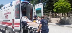 Otomobil sürücüsü elektrikli bisiklete çarptı: 1 yaralı