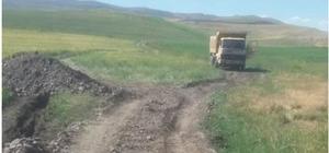 Malazgirt'te yayla yollarında çalışmalar devam ediyor
