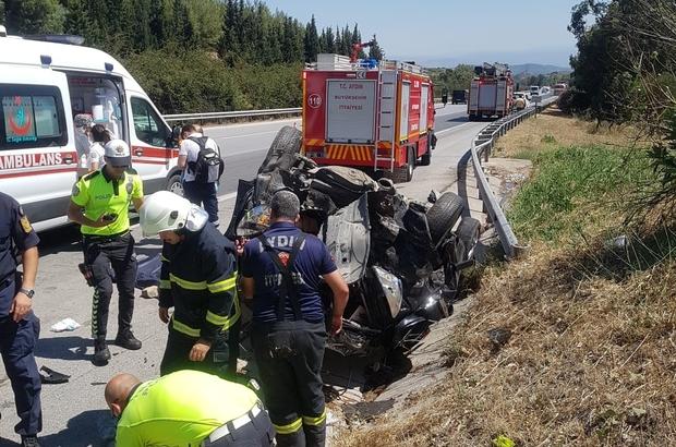 Aydın'da trafik kazası: 1 ölü, 2 yaralı