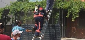 Yangında mahsur kalan iki kişiyi itfaiye kurtardı Soma'da ev yangını