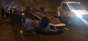 Rize'de zincirleme trafik kazası: 1'i polis 6 yaralı