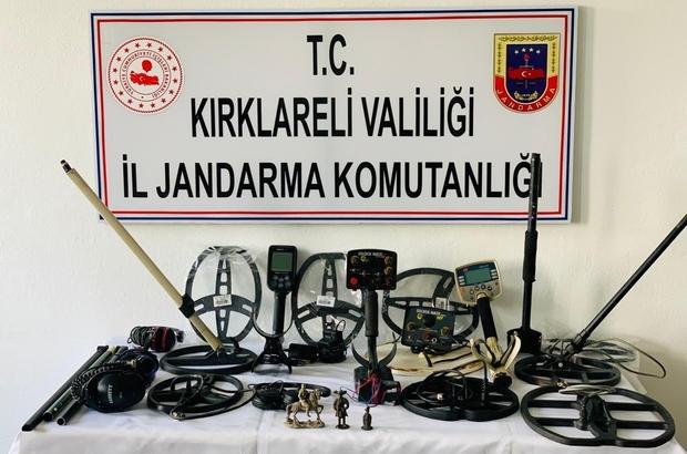Kırklareli'de tarihi eser operasyonu: 5 gözaltı