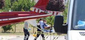 Hızarla kolunu parçaladı Kayseri'de hızarla kolunu parçalayan adamın imdadına hava ambulansı yetişti