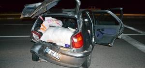 Konya'da iki otomobilin çarpıştığı kaza ucuz atlatıldı