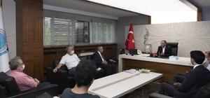 """Başkan Büyükkılıç, Yahyalı Kaymakamı ve Belediye Başkanı ile birlikte Yahyalı Meclis Üyelerini kabul etti Büyükkılıç: """"Kayseri'mize yakışır bir şekilde hizmet almalarını sağladık"""""""