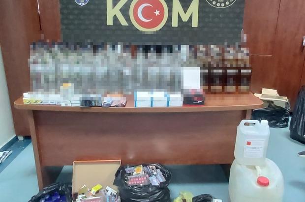 Adana'da kaçakçılık operasyonu Piyasa değeri 76 bin lira olan kaçak içki, cinsel içerikli ürün, etil alkol ve kartuş ele geçirildi