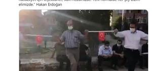 """Sağlık Bakanı Koca, """"Çankırı'dan örnek geldi"""" notuyla paylaştı Köy düğününde Türk bayraklı çubuklarla sosyal mesafeli halay"""