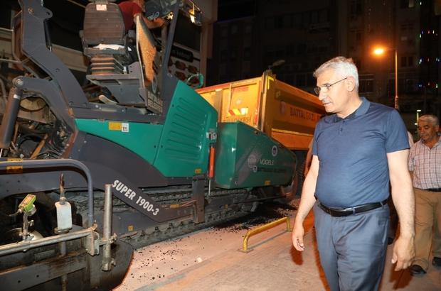 Battalgazi belediyesi sokakları asfaltlamaya devam ediyor