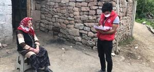 Tercan'da psikososyal destek ekibi tarafından depremden etkilenen vatandaşlar için alan taraması yapıldı