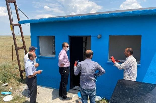 Altıntaş'ta 3 köyde su deposu onarımı