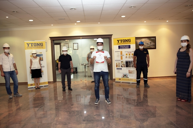 Gaziantep ytong sektörde TSE Covıd-19 güvenli üretim belgesi alan ilk firma oldu TSE Covıd-19 Güvenli Üretim Belgesi