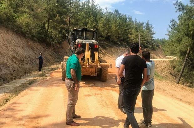 Kaymakam Yavuz, yapımı devam eden köy yolunda incelemede bulundu