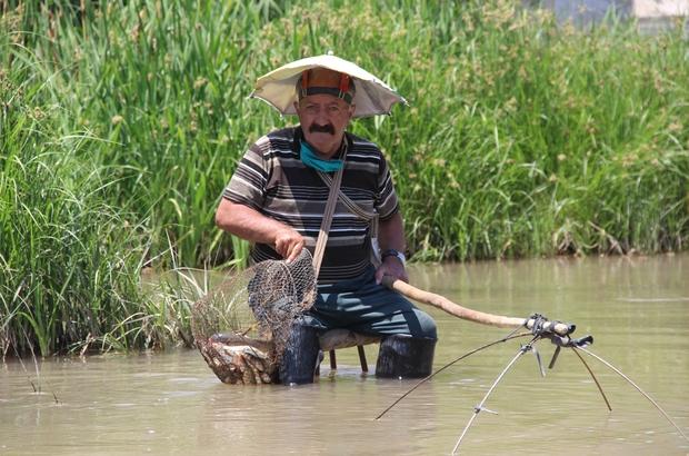Yaşlı adam balık tutma yöntemiyle şaşırttı Sivas'ta 71 yaşındaki Osman Yükçeker, Kızılırmak'ta ilginç balık tutma yöntemi ile görenleri şaşkına çevirdi Mevsim normallerinin üzerindeki sıcaklardan bunalan Yükçeker, Kızılırmağın içerisine koyduğu taburesine oturarak hem serinleri hemde balık tutmayın keyfini yaşadı