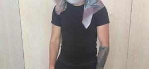 Para çaldı, kadın kılığında polise yakalandı