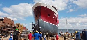 Norveç için inşa edilen gemi denize indirildi 84 metrelik Krıstıansund Norveç denizlerinde çalışacak