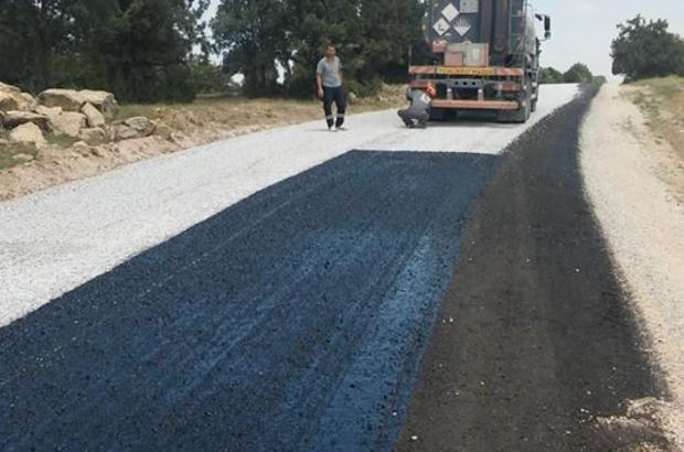 Altıntaş ilçesi Osmaniye-Yaylaköy arasında asfalt çalışmaları
