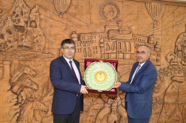 Dinç ve Duru, Rektör Aktekin'e hayırlı olsun ziyaretinde bulundu