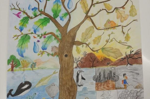 Su ve iklim değişikliği resmedildi Sanko öğrencisi DSİ yarışmasında bölge üçüncüsü oldu