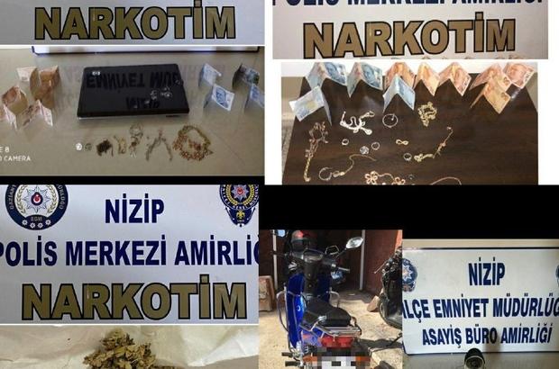 Gaziantep'te aranan 107 şüpheli şahıs yakalandı Çok sayıda çalıntı malzeme ve suç aleti ele geçirildi