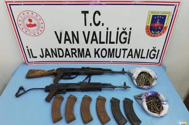Başkale ilçesinde silah ve mühimmat ele geçirildi