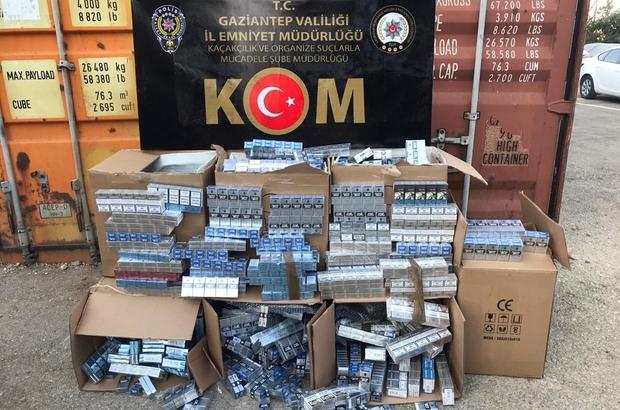 Kargo aktarım merkezinde 4 bin 300 paket kaçak sigara ele geçirildi
