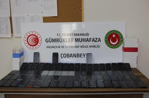 Çobanbey Sınır Kapısında 263 adet kaçak cep telefonu ele geçirildi