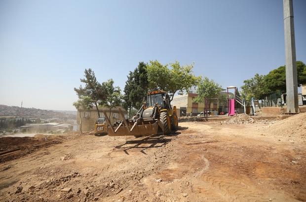 Şehitkamil'deki yıpranan parklar revize ediliyor Şehit Resul Bozkurt Parkı'nda yenileme çalışması başlatıldı