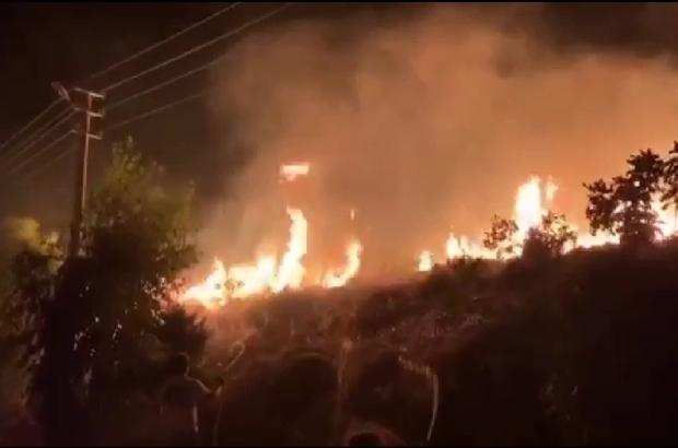 İzmir'de yerleşim yerlerine yakın noktada meydana gelen yangın kontrol altına alındı Karaburun'daki yangın kontrol altına alındı
