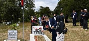 15 Temmuz şehidinin mezarına ziyaret