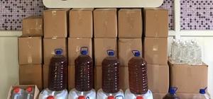 Tekirdağ'da kaçak içki operasyonu: 702 litre ele geçirildi