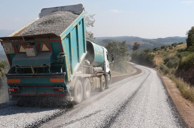 Manisa'da 5 ilçede asfalt çalışması