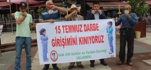 Islık diliyle 15 Temmuz darbe girişimini kınadılar